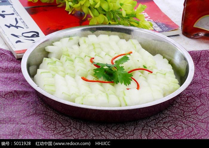 火锅菜品冬瓜展示