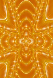 金色大气3D十字背景墙