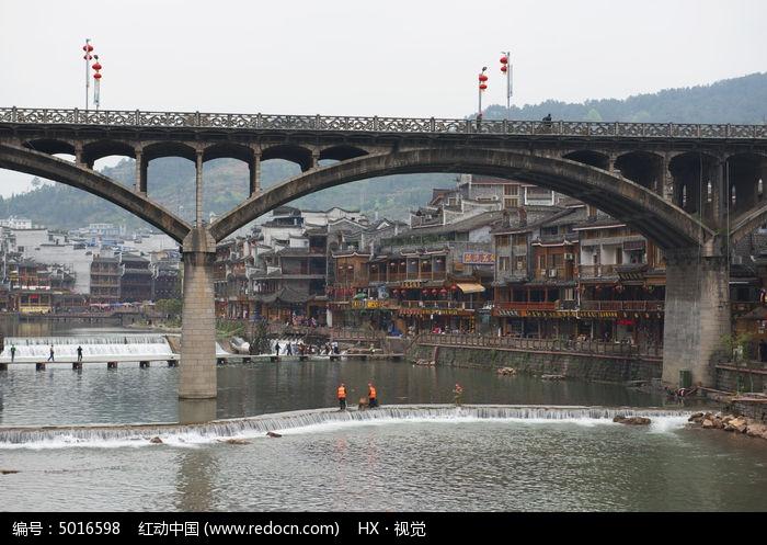 凤凰古城虹桥图片,高清大图