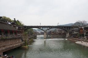凤凰古城沱江虹桥景色