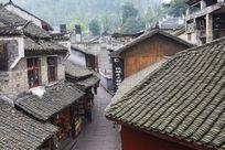 凤凰古城民居民宅石板老街