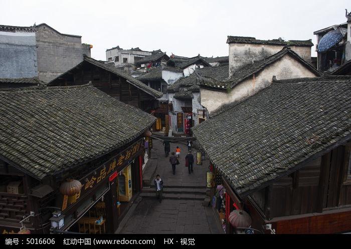 凤凰古城民居特色石板老街图片