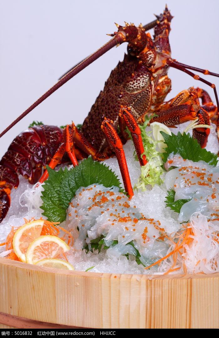 龙虾刺身活造图片,高清大图 西餐美食素材