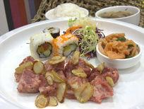 雪花牛肉寿司拼饭
