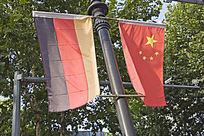 中国国旗和德国国旗
