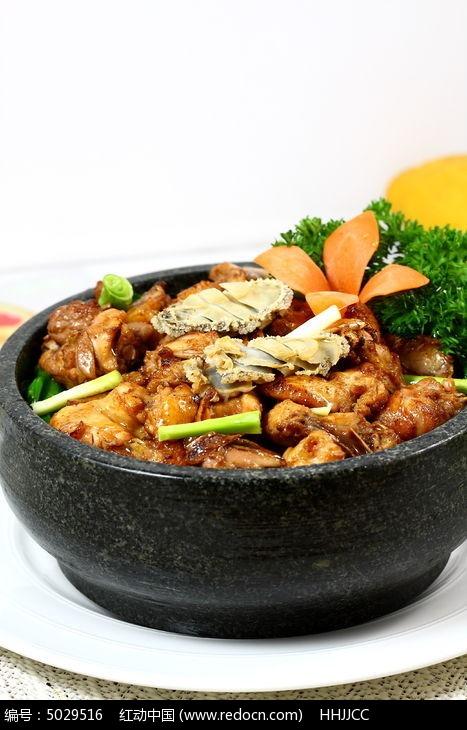 鲍鱼焖鸡石锅菜图片金针菇可以长期吃吗图片