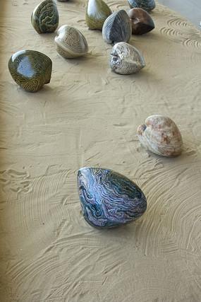 青岛雕塑园的石头