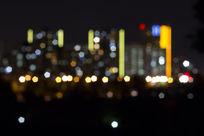 都市夜景霓虹
