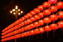广州喜字灯笼夜景