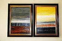 海景风景油画