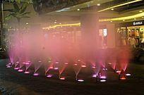 红色雾状喷泉