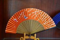 蝴蝶花卉图纸折扇