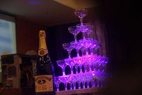婚庆香槟酒塔