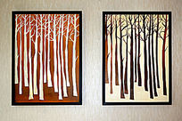 树木装饰画