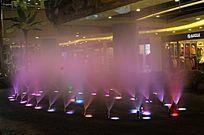 紫色雾状喷泉