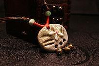 复古文艺民族风陶瓷毛衣链