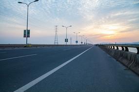 宽广公路素材