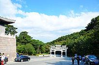 仙人台风景区旅游胜地五龙宫山门