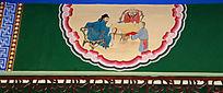 高僧名士座谈人物墙绘装饰画