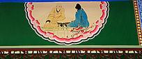 僧人名士座谈墙绘装饰画