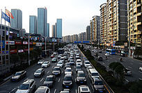 城市堵车画面