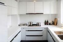 现代简约白色系厨房样板房