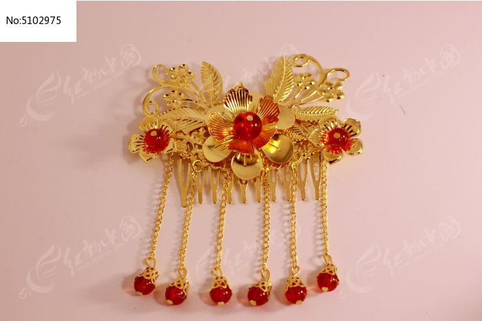古典中式新娘发饰流苏发簪图片图片