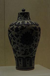 花纹带盖瓶