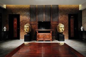 会所室内装饰元素摄影图