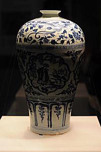 青瓷六翁垂钓瓶