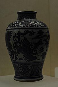 青釉龙云瓶