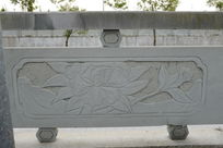 一朵牡丹桥体石刻浮雕