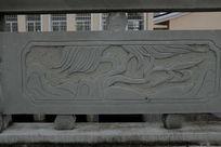 一颗柳树桥体石刻浮雕