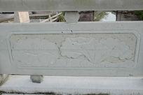 圆形荷叶桥体石刻浮雕