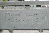 竹子和笋桥体石刻浮雕