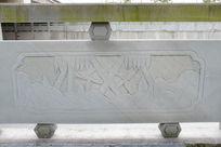 竹子与竹笋桥体石刻浮雕