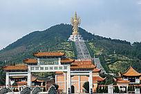 密印禅寺琉璃瓦建筑摄影