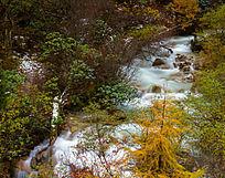 秋天毕棚沟流水