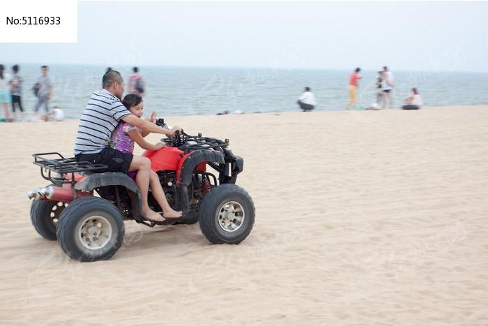 沙滩摩托车图片