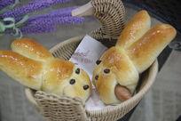 小兔子火腿肠面包