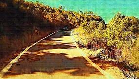 道路风景油画