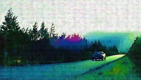 道路风景装饰画