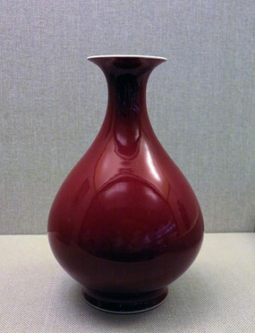 祭红釉玉壶春瓶