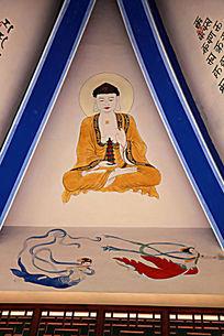 佛像飞天仙女壁画