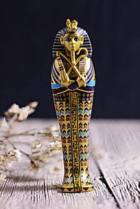 古埃及金棺人物雕像
