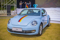 蓝色甲壳虫车型
