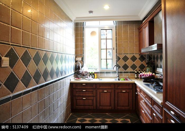 美式复古厨房样板间