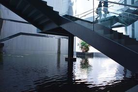 苏州博物馆楼梯空间