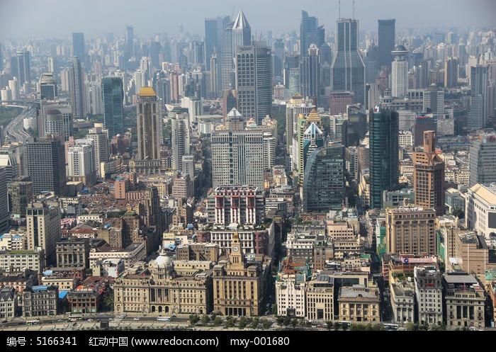 高楼林立的上海城市