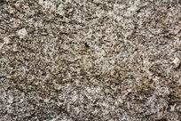 华山岩石表面苔藓斑驳肌理背景素材